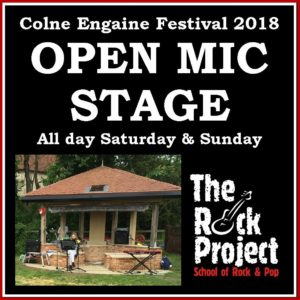 open mic stage at colne engaine festival